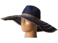Bcbgmaxazria Tribal Stripe Floppy Hat Blue Depths Traditional Hats
