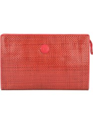 Fendi Vintage Woven Clutch Red