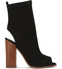 Aldo Ibania Suede Heeled Sandals Black Suede