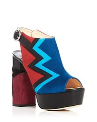 Isa Tapia Pacha High Heel Platform Sandals Red Blue Black
