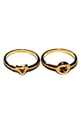 Argentovivo Women's Argento Vivo Open Triangle Circle Stack Ring Set Of 2