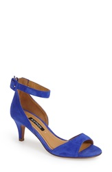Kay Unger 'Kenedy' Ankle Strap Sandal Women Royal Blue Suede Leather