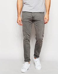 Only And Sons Washed Grey Jeans In Super Skinny Fit