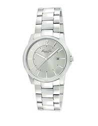 Kenneth Cole Mens Stainless Steel Monochromatic Watch Silver