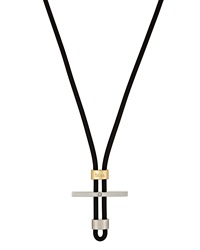 Bliss By Damiani Stainless Steel And 18K Gold Mistral Cord Necklace 16.5 In.