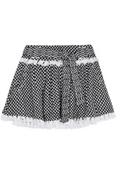 Dodo Bar Or Tasseled Cotton Gauze Mini Skirt Black