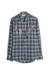 Paul Joe Men S Checked Flannel Shirt Boutique1 Blue