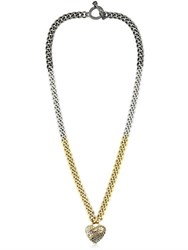 Juicy Couture Heart Pendant Color Block Chain Necklace