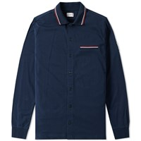 Moncler Gamme Bleu Long Sleeve Jersey Polo Blue