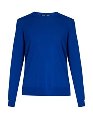 Proenza Schouler Round Neck Wool Sweater Blue