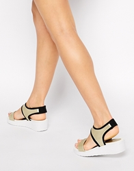 Glamorous Gold Ankle Strap Flat Sandals