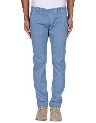 Blauer Trousers Casual Trousers Men Pastel Blue