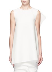 Maticevski 'Imposed Petal' Ruffle Back Top White