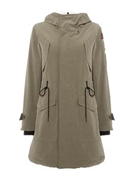 Replay Parka With Patches Green