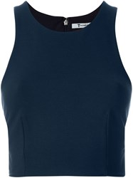 T By Alexander Wang Cropped Tank Top Blue