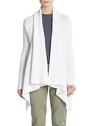 Vince Drape Front Cardigan Optic White