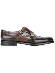 Church's Monk Strap Shoes Brown