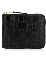 Comme Des Garcons Wallet Zip Around Wallet Black