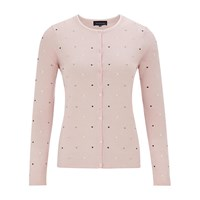 Viyella Spot Embroidered Cardigan Pale Pink
