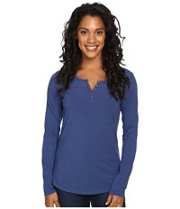 Kuhl Veloce Long Sleeve Top Storm Blue Women's Long Sleeve Pullover Black