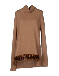 Le Ragazze Di St. Barth Turtlenecks Light Brown