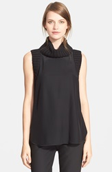 Elizabeth And James 'Tivi' Sleeveless Silk Top Black Black