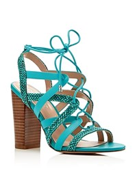 Charles By Charles David Greensboro Caged High Heel Sandals Compare At 129 Sea Green