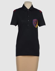 Bikkembergs Topwear Polo Shirts Women Dark Blue