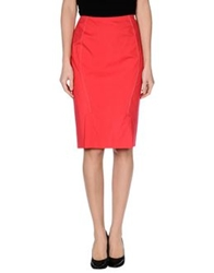 Rena Lange Knee Length Skirts Coral