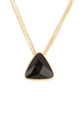 Boy Meets Girl Triangle Crystal Pendant Necklace No Color