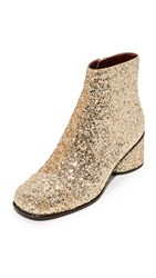 Marc Jacobs Camilla Ankle Booties Gold