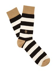 Alexander Mcqueen Striped Cotton And Silk Blend Socks
