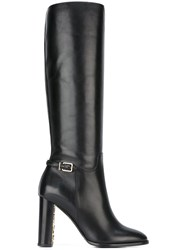 Burberry Knee Length Zip Boots Black