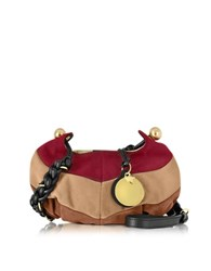 See By Chloe Madie Multicolor Suede Small Crossbody Bag Poppy Red
