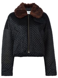 Dolce And Gabbana Vintage Quilted Cropped Jacket Black