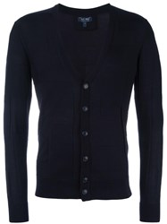 Armani Jeans V Neck Cardigan Blue