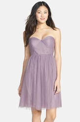 Women's Jenny Yoo 'Wren' Convertible Tulle Fit And Flare Dress Lilac
