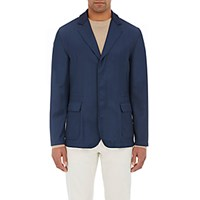 Kiton Men's Athletic Inspired Three Button Sportcoat Navy Blue Navy Blue