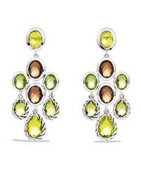 Color Classics Chandelier Earrings With Lemon Citrine Smoky Quartz And Peridot David Yurman Silver