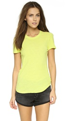 James Perse Slub Crew Neck Tee Neon