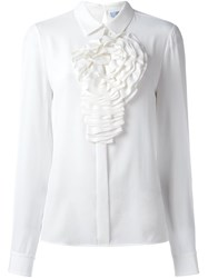 Blumarine Ruched Front Shirt White