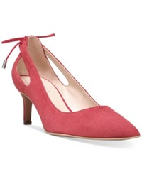 Franco Sarto Doe Pointed Toe Pumps Women's Shoes Red