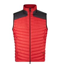 Hugo Boss Boss Green Vakavo Quilted Gilet Male Red