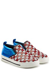 Marc Jacobs Leather Slip On Sneakers With Sequins Multicolor