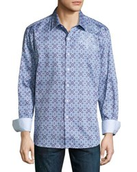 Robert Graham A Perfect Day Button Front Shirt Light Blue