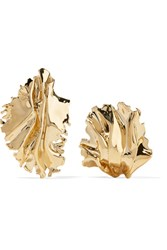 Annelise Michelson Sea Leaves Gold Plated Clip Earrings