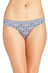 Chelsea 28 Women's Chelsea28 Low Rise Thong Grey Grisaille Bees Print