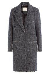 By Malene Birger Striped Wool Coat Multicolor
