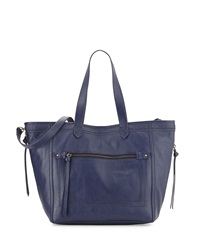 Isabella Fiore Plains Leather Tote Bag Blue