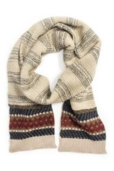 Muk Luks Diamond Scarf White